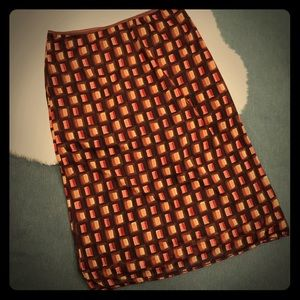 EUC Jonathan Martin Casual 70s Patterned skirt SzM